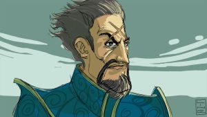 DOTA2 Kunkka Art Speed Draw And Color 30 minutes by LineDetail