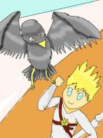 Zane and the Falcon by Lunaslurp