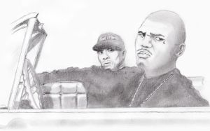The Game and Dr Dre by blackdoggdesign