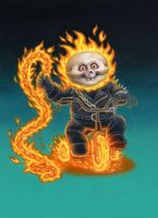 Ghost Rider Garbage Pail Kid by Layron DeJarnette by DeJarnette