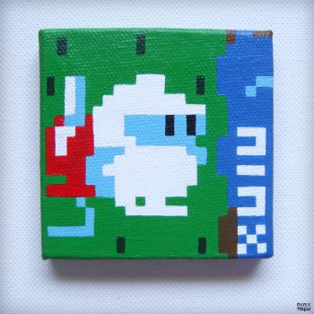 [nes] Dig Dug 2 - Pondering Hori | up-close @_@.. by nintentofu