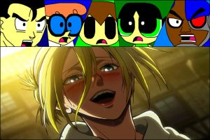 Team Isberto's Reaction - Annie Leonhart Laughing by ian2x4