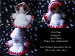 White Mage Amigurumi by PrincessCordelia