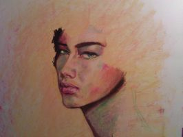 Adriana in pastel W.I.P by indi1288
