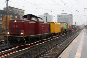 Construction train by Budeltier
