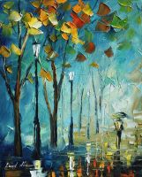 Fog by Leonid Afremov by Leonidafremov