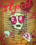 INVADER ZIM CALENDAR - April - Invader Tenn by CuteMusicLover