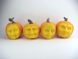 Creepy Dollhouse Pumpkin Faces by Ethereal-Beings