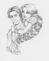 Flynn and Rapunzel by KageOfLight