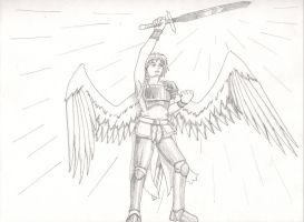 Warrior Angel Drawing by Soldiers-of-Legacy