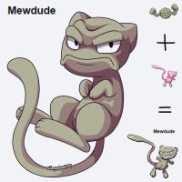Mewdude Pokefusion by wingedwolf94