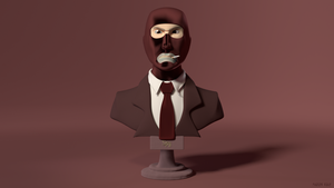 Spy Bust Textured by PhaserRave