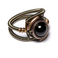 Steampunk Jewelry Black Onyx by CatherinetteRings
