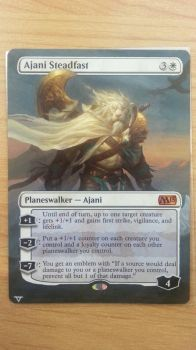 Ajani Steadfast - Full Art Extension by BlacklightOfDawn