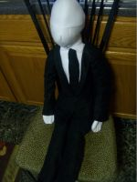 Huge Slender Man plush by PollyRockets