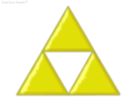 .: Gift: Triforce:. by SonicChick