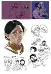 DRAGONS twitter doodles + wip by MyDearBasil