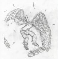 Kickflip angel by Fundz64