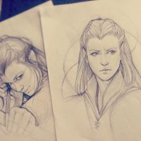 Tauriel Sketch by JuliaFox90