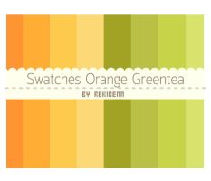Swatches Orange Greentea by TheSeekerReki