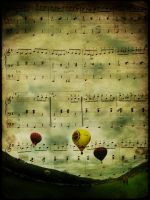 flying notes by Trifoto