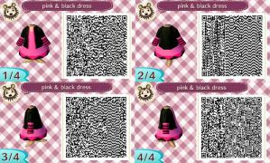 my frist QR code: Pink and black Dress by BlackCherry1994
