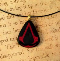 Assassins Creed Fused Glass Pendant by FusedElegance