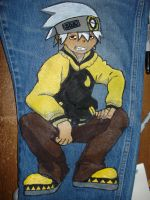 My Soul Eater Jeans by digital-strike