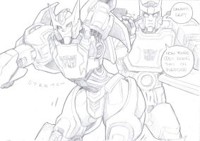 drift and ratchet sketch by prisonsuit-rabbitman