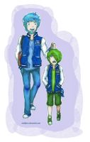Monsters University: Mike and Sulley (Personified) by melofarce