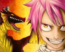 Natsu Dragneel - Fairy Tail Fan Art by AdamScythe