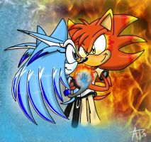 .:REQUEST:. Ice and Fire by SonicFF