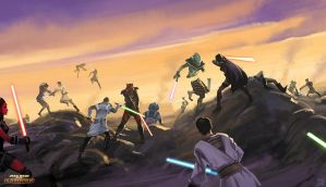 Star Wars The Old Republic - Jedi Sith battle by Hideyoshi