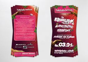 Einmusik party Flyer by homeaffairs