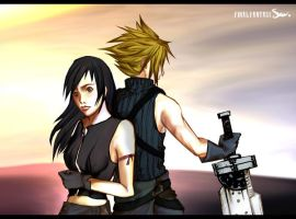 Tifa and Cloud by zengen