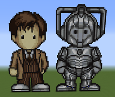 10th Doctor and Cyberman by slygirl1999