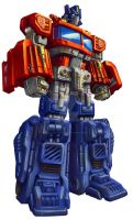 Universe Optimus Prime pkg art by MarceloMatere