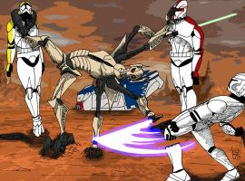 General Grievous vs Clone Troopers by GABSATO02