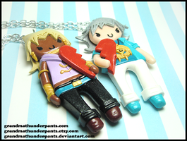 Marik/Bakura BFF Set by GrandmaThunderpants