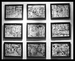 sketches on the wall. by Gobi-Jovler