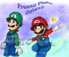 Mario: Freezy Flake Galaxy by saiiko