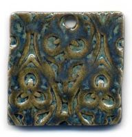 Peacock Ceramic Pendant by ChinookDesigns