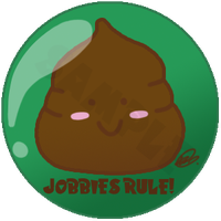 Smiling Jobby Badge by oujou-chan
