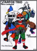 Starfox Trio - Colored by dragonheart07