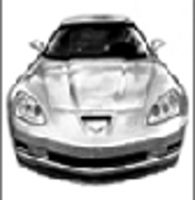 Corvette Z06 pencil drawing by autodrawings
