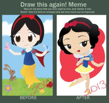 Draw this again meme - Snow White by PetiteTangerine