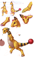 Anatomy of an Ampharos by TwitchyGears