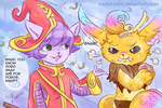 Doodle time- gender swapped Gnar and Lulu by Kasugaxoxo