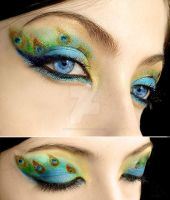 Peacock make-up 2 by Dead-Rose-16