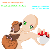 Trainer and Rokon/Vulpix Base #042 by renaxakai